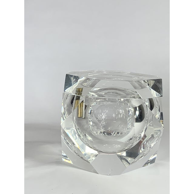 Vintage Geometric Shapes Lucite Covered Box For Sale - Image 4 of 5