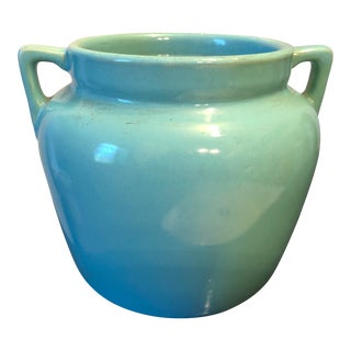 Arts and Crafts Pottery Jardiniere in Celadon Luster Glaze For Sale