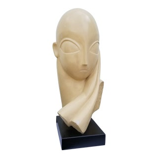 1970s Vintage Plaster Female Sculpture For Sale