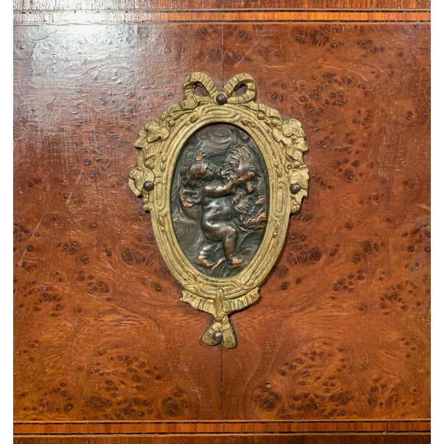 Wood Antique French Bedside Cabinet For Sale - Image 7 of 9