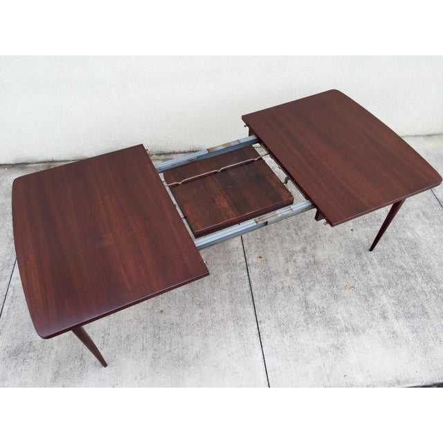 Mid-Century Expandable Walnut Dining Table - Image 5 of 11