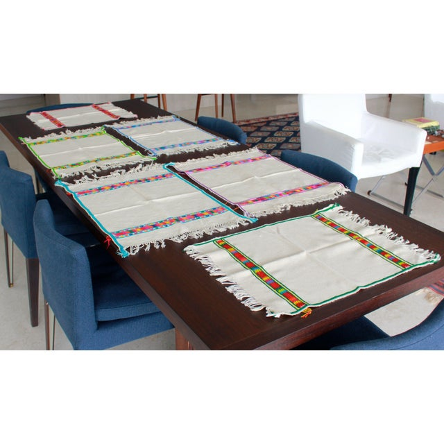 Hand Embroidered Multicolor Placemats - Set of 6 - Image 7 of 7