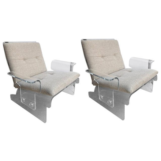 Pair of Lucite Armchairs by Baumann, Germany, 1970s For Sale - Image 13 of 13