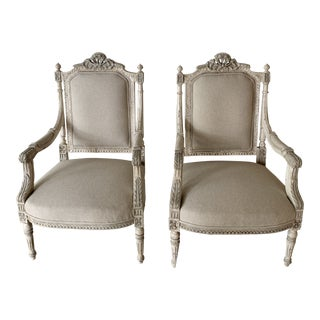 1960s Vintage Louis XVI Style Chairs- A Pair For Sale