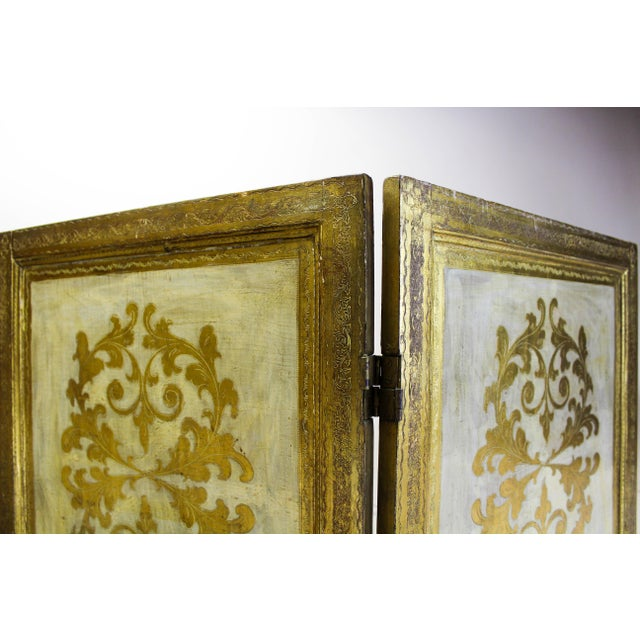 Vintage Florentine 3 Panel Screen - Image 11 of 11