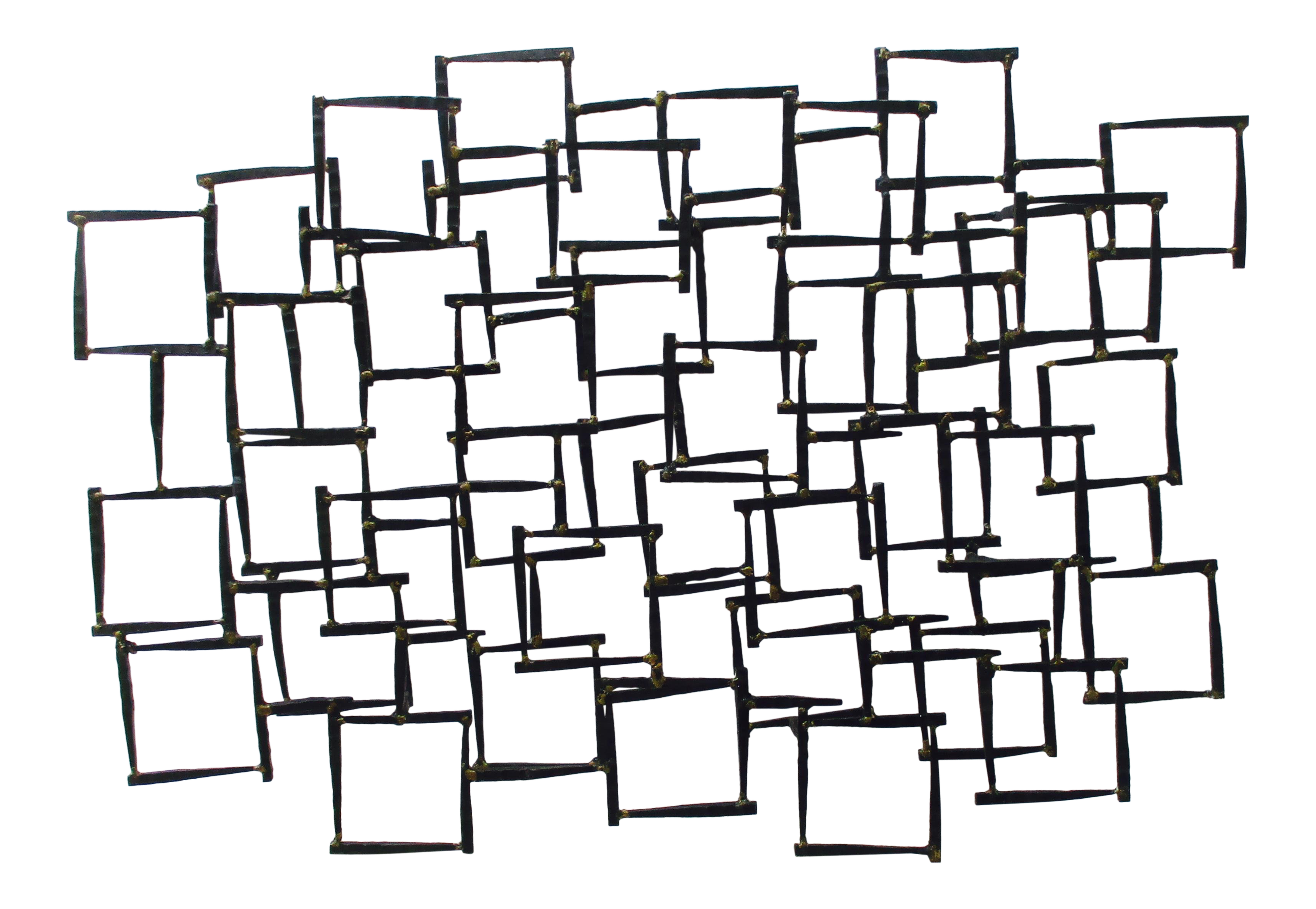 abstract modernist brutalist metal wall sculpture chairish Furniture From the 1970s