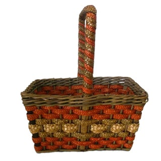 Antique 1900s Ny Country Store Advertising Basket