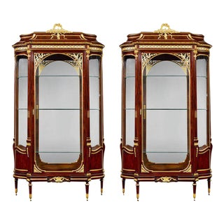 Pair of Rococo Vitrines by François Linke For Sale