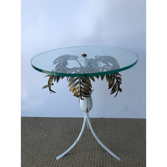 1960s 1960s Hollywood Regency Palm Tree Side Table For Sale - Image 5 of 8