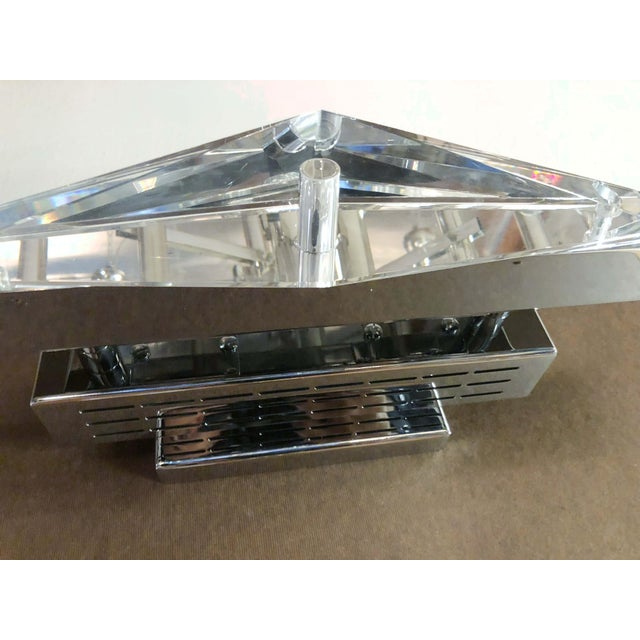 Fabio Ltd Crystal Chrome Sconces / Flush Mounts (Pair Available) For Sale In Palm Springs - Image 6 of 8