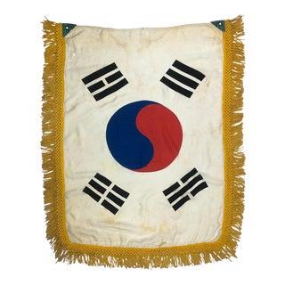 Vintage Fringed Flag of South Korea For Sale