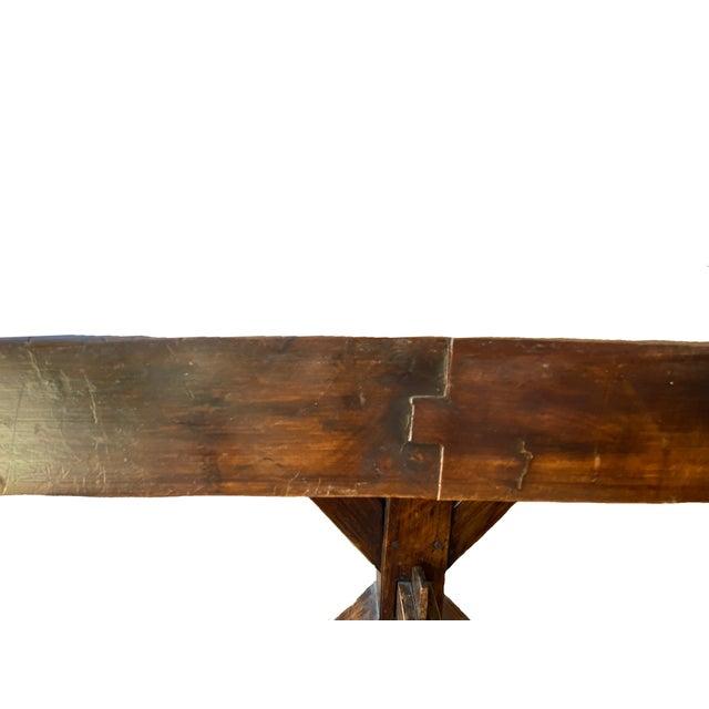 19th Century Provençal Trestle Farm Table For Sale - Image 9 of 11