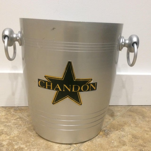 Vintage Chandon champagne Bucket made in France mark on the bottom.