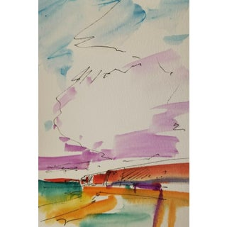 Jose Trujillo Field Study Contemporary Works Original Watercolor Painting For Sale