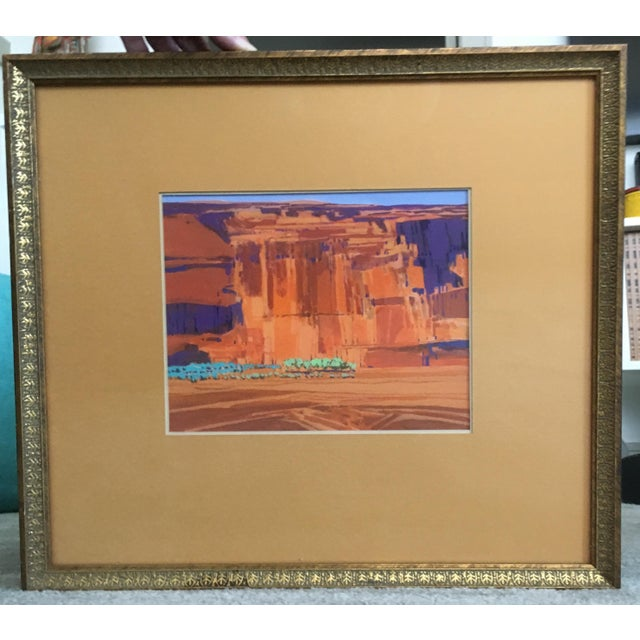Buffalo Kaplinski Plein-Air Watercolor Painting For Sale In Houston - Image 6 of 6