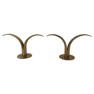 Ystad Metall Brass Candle Holders - Pair