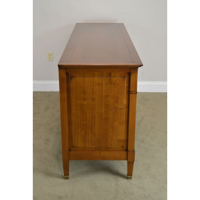 Wood Grange French Cherry 6 Drawer Dresser For Sale - Image 7 of 12