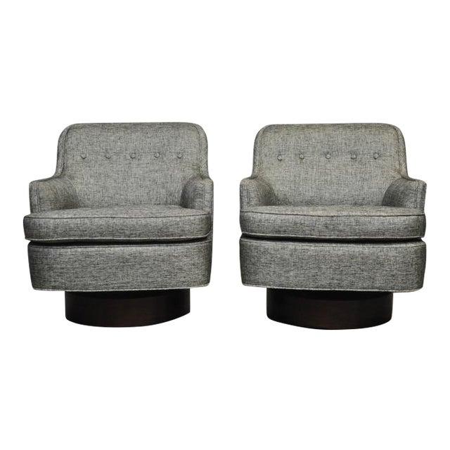 Dunbar Swivel Chairs by Edward Wormley - Image 1 of 6