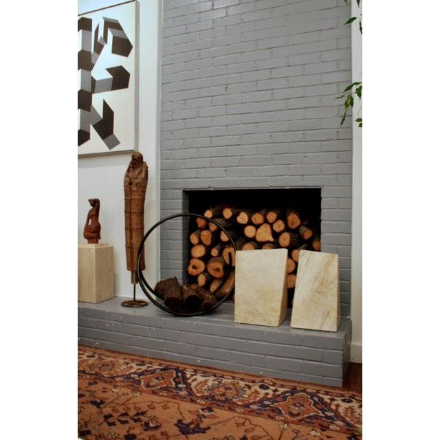 Modernist Iron Log Holder For Sale - Image 4 of 7