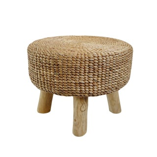 Round Banana Leaf Rope Stool