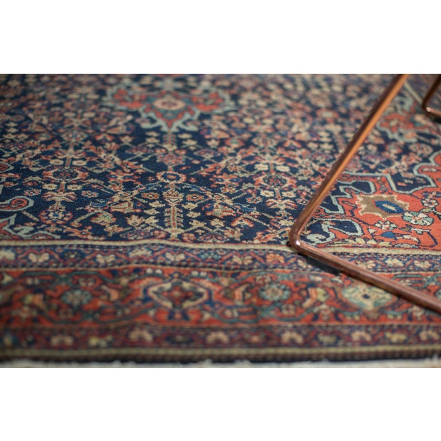 "Textile Vintage Farahan Sarouk Rug - 4'3"" X 6'6"" For Sale - Image 7 of 11"