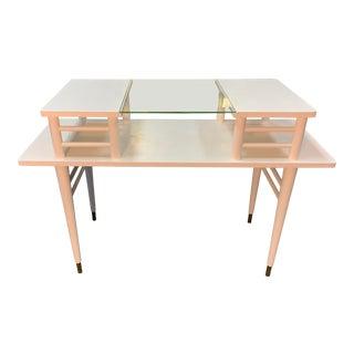Mid-Century Modern Raised Shelf Occasional Table/ Desk For Sale