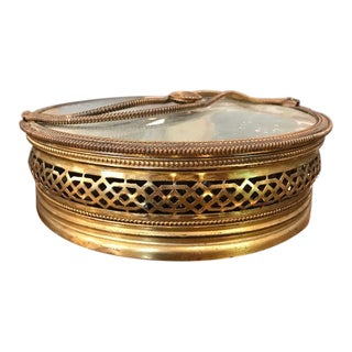 Art Deco Brass Lidded Trinket Box For Sale