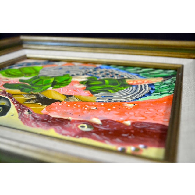 Abstract Sea Theme Framed Oil Painting - Image 5 of 7