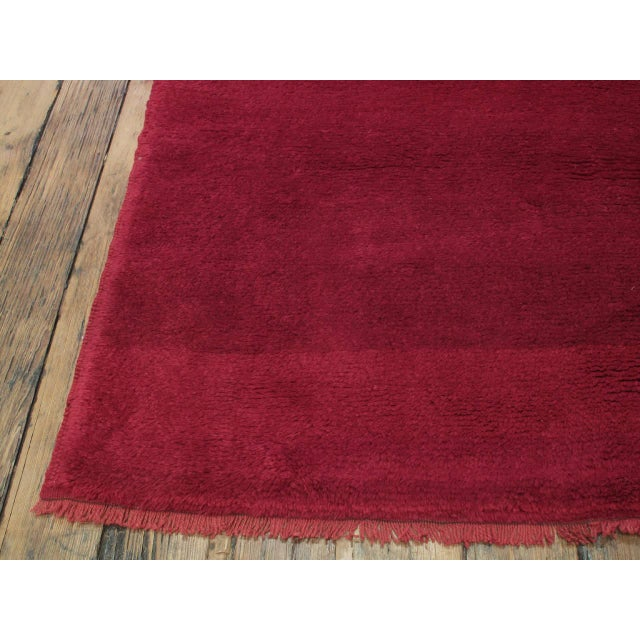 1960s Fantastic Red Tulu Carpet For Sale - Image 5 of 8