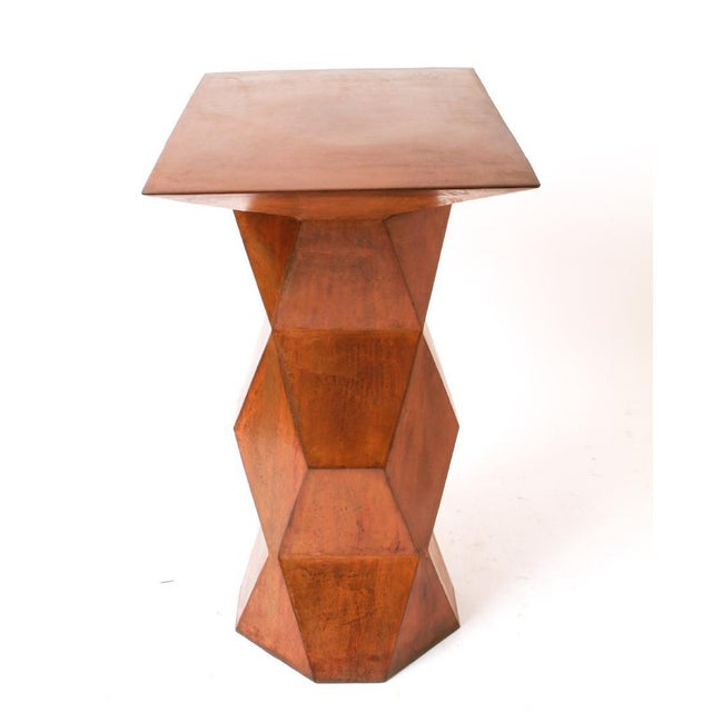 Brutalist Custom Brutalist Geometric Console For Sale - Image 3 of 6