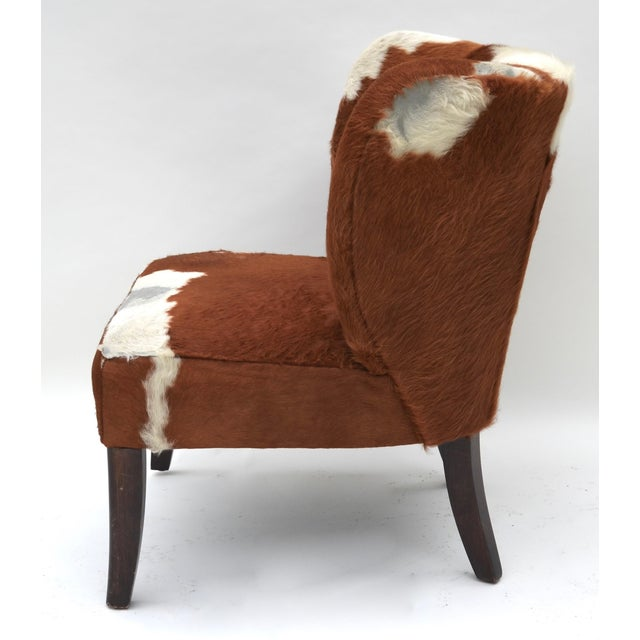 Vintage Cowhide Chair For Sale - Image 4 of 9