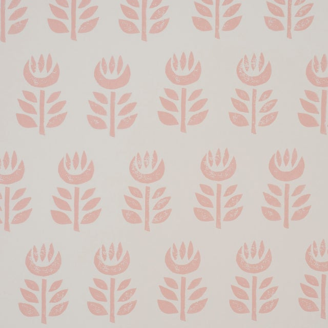 2020s Schumacher Rosenborg Wallpaper in Pink For Sale - Image 5 of 5