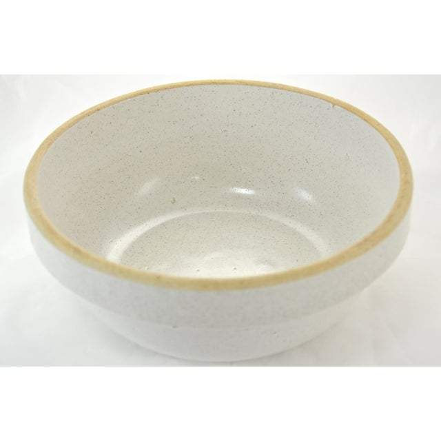 Farmhouse Rustic Yellow Ware Pottery Farmhouse Bowl For Sale - Image 3 of 5