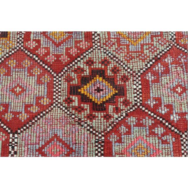 Textile Vintage Turkish Fethiye Nomad's Flat Weave Rug For Sale - Image 7 of 12