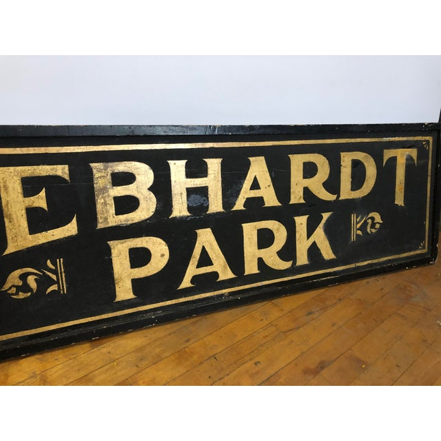 "American Antique Gold Leaf Sign ""Gebhardt Park "" For Sale - Image 3 of 6"