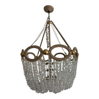Fiona Beaded Crystal Chandelier by Ro Sham Beaux For Sale