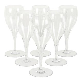 Vintage Baccarat Crystal Wine Glassware Set Six For Sale
