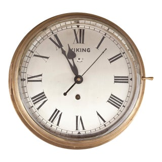 1960s Nautical Brass Ship's Clock For Sale