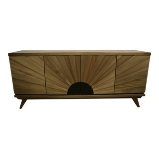 Noir Sunburst Console For Sale