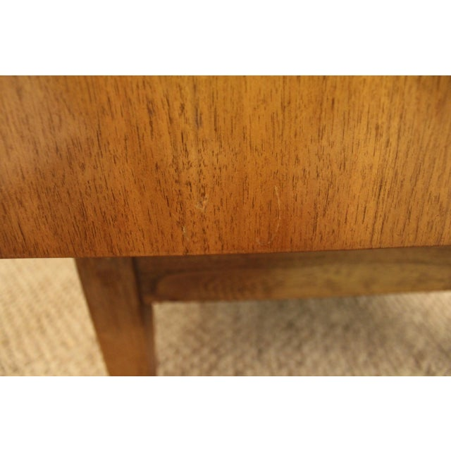 Brown Mid-Century Danish Modern 3D Diamond Front Walnut Credenza For Sale - Image 8 of 11