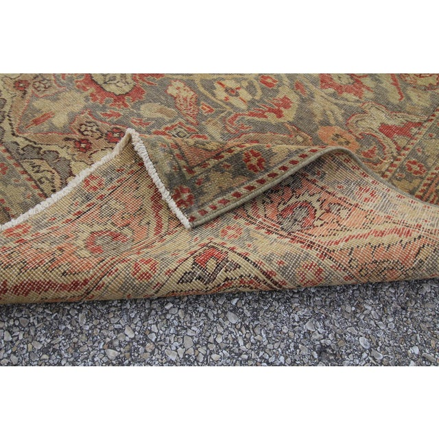 Antique Turkish Oushak Hand Knotted Rug - 4'8 X 7' For Sale - Image 5 of 5