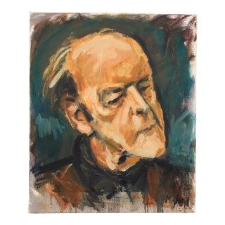 Portrait of Danish Composer Vagn Holmboe by Mogens Hoff For Sale