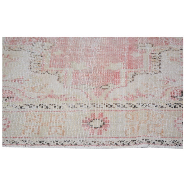 """Vintage Turkish Anatolian Oushak Hand Knotted Organic Wool Fine Weave Rug,6'7""""x9' For Sale - Image 4 of 6"""
