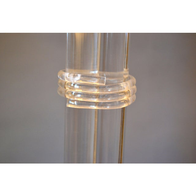 Transparent Mid-Century Modern Lucite Coat Rack, Stand, Clothes Tree Stand, Lucite Sculpture For Sale - Image 8 of 13
