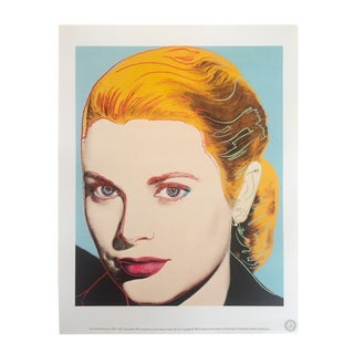 "Andy Warhol Estate Rare 1989 Collector's Pop Art Lithograph Print "" Grace Kelly "" 1984 For Sale"