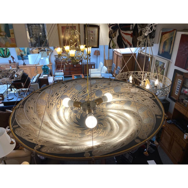 Metal Mariano Fortuny Archeo Venice Murano Glass Chandelier For Sale - Image 7 of 13