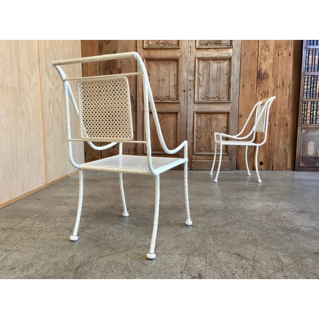 Mid 20th Century Vintage Mid-Century Faux Rope Twist Patio Set - 5 Pieces For Sale - Image 5 of 13