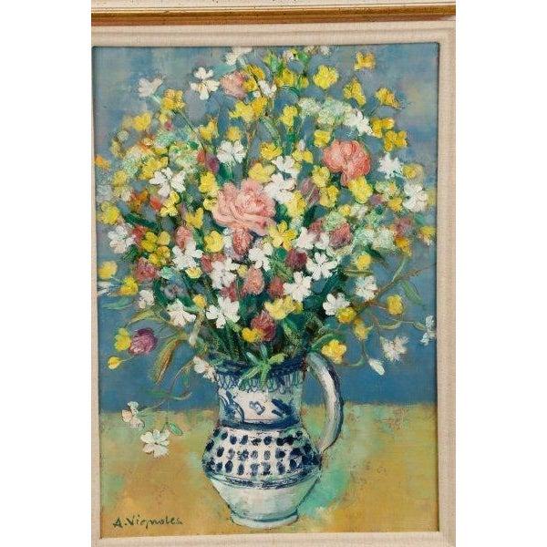 """""""Bouquet Aux Silenes Blancs"""" by Andre Vignoles - Image 3 of 10"""