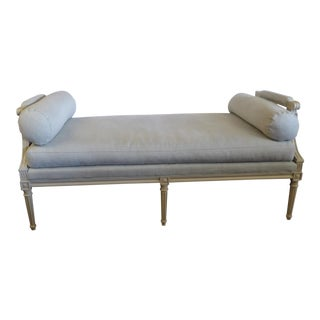 Sea Foam Blue Upholstered Daybed For Sale