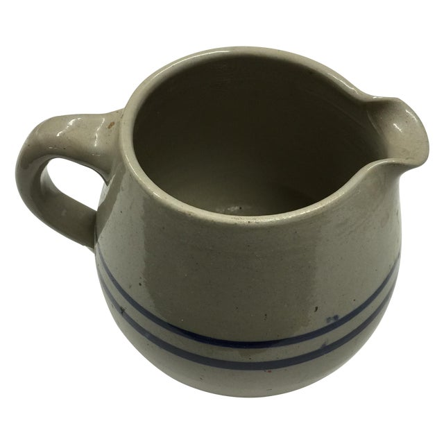 Vintage Blue And White Jug Pitcher - Image 1 of 4